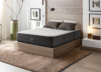 angled mattress in styled room