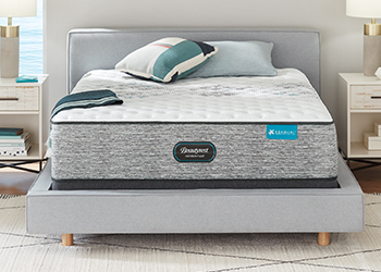 extra firm mattress in styled room
