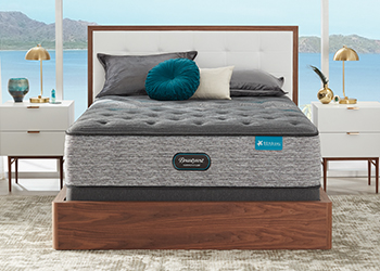 plush mattress in styled room