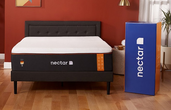 Nectar Premier Copper with Shipping Box in Styled Room